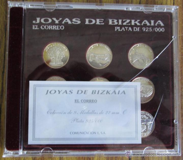 Antigüedades: JOYAS DE BIZKAIA Colección de 9 medallas De 22 mm plata 925/000 - Foto 4 - 53372898