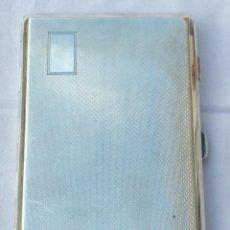 Antigüedades: PITILLERA DE BOLSILLO DE PLATA. Lote 53373205