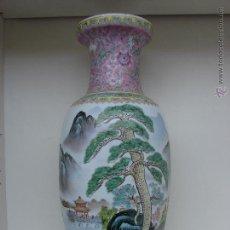 Antigüedades: ANTIGO JARRON DE PORCELANA CHINA. JARRON CHINO. PRINCIPIOS DEL SIGLO XX. GRAN TAMAÑO. Lote 53375660