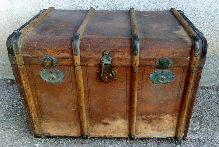 Gran baul de viaje con chapa casa graeser lausa comprar ba les antiguos en todocoleccion - Baules antiguos ...