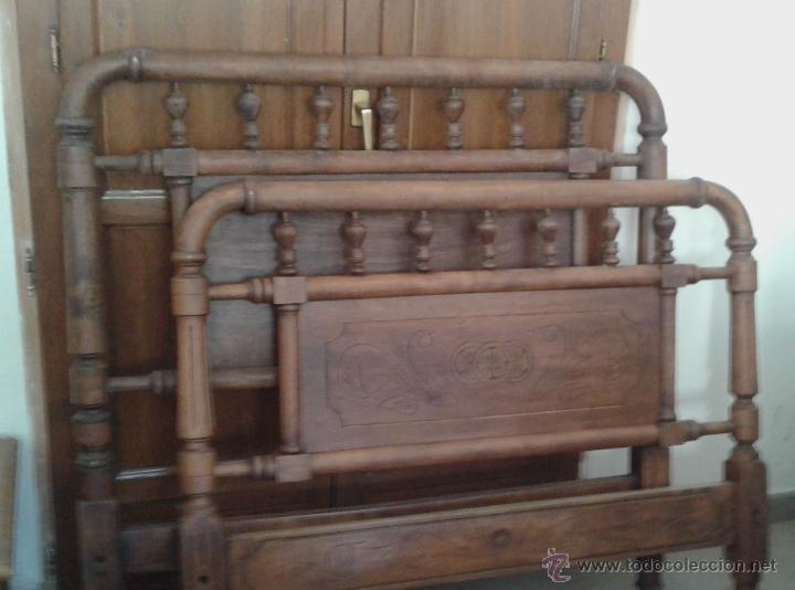 Cama de barrotes de madera comprar camas antiguas en - Camas de madera antiguas ...
