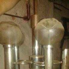 Antigüedades: CINCO TULIPAS DE LAMPARA. Lote 53387352