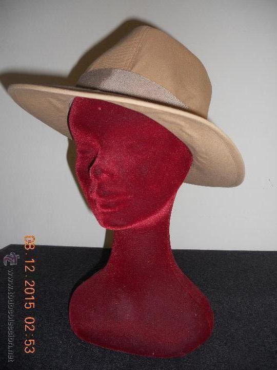 ANTIGUO SOMBRERO IMPERCORK INDEFORMABLE FRANCES MARQUE DE POSEE (Antigüedades - Moda - Sombreros Antiguos)