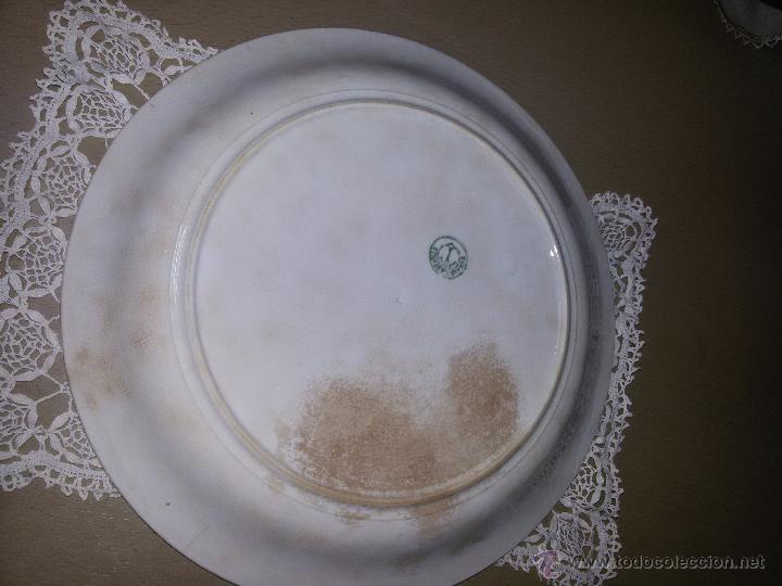 Antigüedades: ANTIGUA Y GRAN FUENTE DE LA CARTUJA PICKMAN S.A. SEVILLA.PP. DEL S.XX-DECORACIÓN EN RELIEVE-33 CM - Foto 10 - 53404964