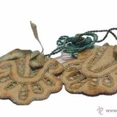 Antigüedades: ANTIGUO ESCAPULARIO DE TELA BORDADO. Lote 51031546