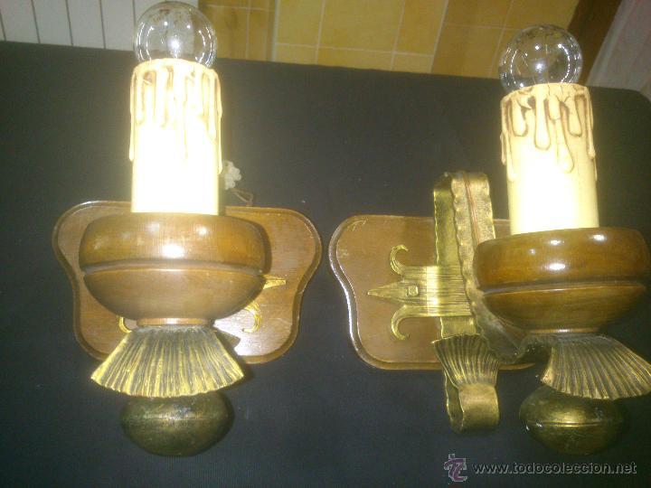 Antigüedades: APLIQUE VELERO DE FORJA Y MADERA - Foto 5 - 53408158
