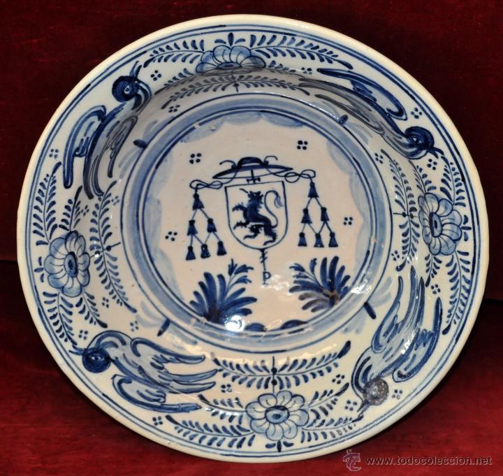 PLATO EN CERÁMICA DE LA MENORA (TALAVERA) DE APROXIMADAMENTE MEDIADOS DEL SIGLO XX (Antigüedades - Porcelanas y Cerámicas - Talavera)