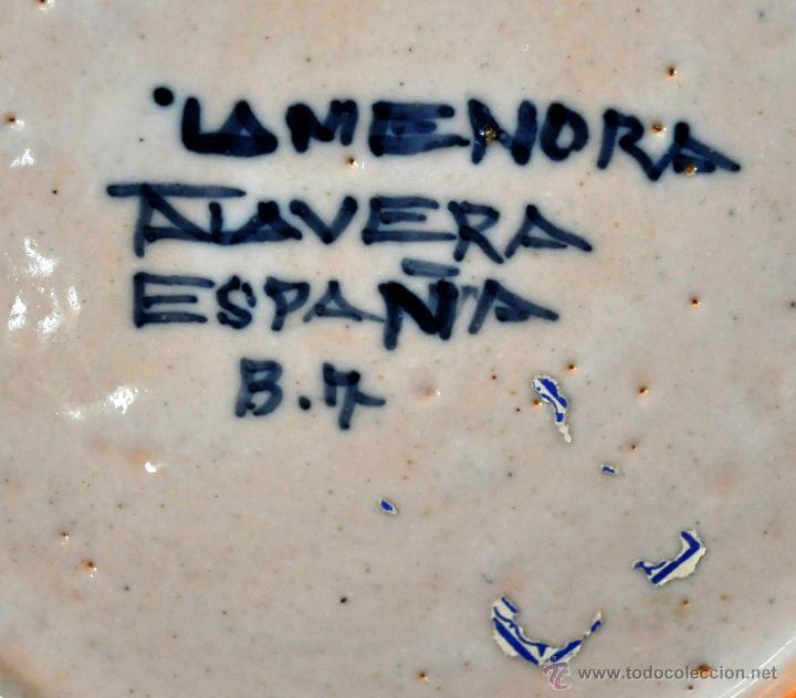 Antigüedades: PLATO EN CERÁMICA DE LA MENORA (TALAVERA) DE APROXIMADAMENTE MEDIADOS DEL SIGLO XX - Foto 6 - 53412782