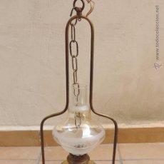 Antigüedades: ANTIGUO QUINQÚE - ANTIGUA LAMPARA DE PETRÓLEO TRANSFORMADA Y ELECTRIFICADA PARA LUZ - KOSMOS BRENNER. Lote 53419345