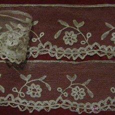 Antigüedades: ANTIGUO ENCAJE DE BRUSELAS S. XIX. Lote 53419806