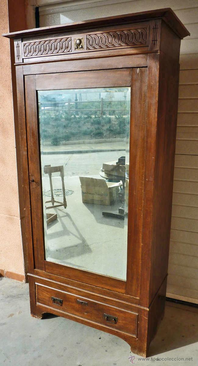 Armario modernista de 1 puerta con espejo made vendido en venta directa 53431225 - Armario una puerta ...