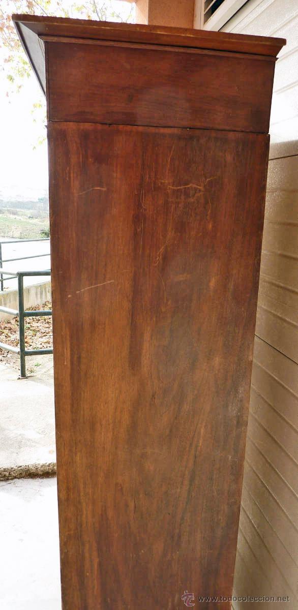 Antigüedades: Armario modernista de 1 puerta con espejo. Madera maciza principos siglo XX - Foto 7 - 53431225
