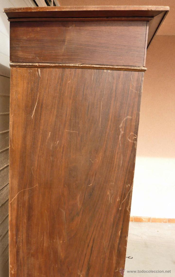Antigüedades: Armario modernista de 1 puerta con espejo. Madera maciza principos siglo XX - Foto 8 - 53431225