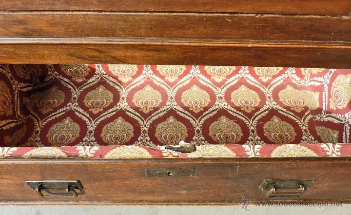 Antigüedades: Armario modernista de 1 puerta con espejo. Madera maciza principos siglo XX - Foto 14 - 53431225