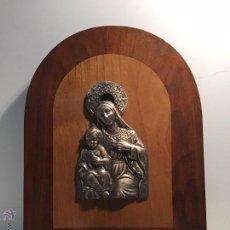 Antigüedades: BENDITERA DEDICADA A LA VIRGEN Y NIÑO JESUS.. Lote 53434286