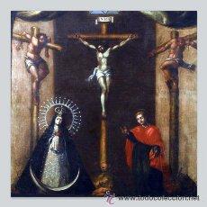 Antigüedades: AZULEJO 20X20 DEL CALVARIO DE CRISTO. Lote 53435611