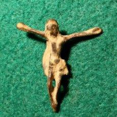 Antigüedades: PEQUEÑO ANTIGUO CRISTO EN BRONCE. Lote 53437592