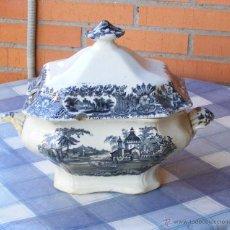 Antigüedades: SOPERA + BANDEJA DE LA CARTUJA PICKMAN - ENVÍO INCLUIDO EN ESPAÑA. Lote 53444696