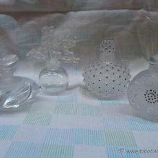 Antiguidades: 4 BOTELLAS PERFUME FIRMADAS LALIQUE. Lote 53446403