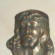 Antigüedades: CRISTO DE COBRE PARA PUERTA.. Lote 53451615