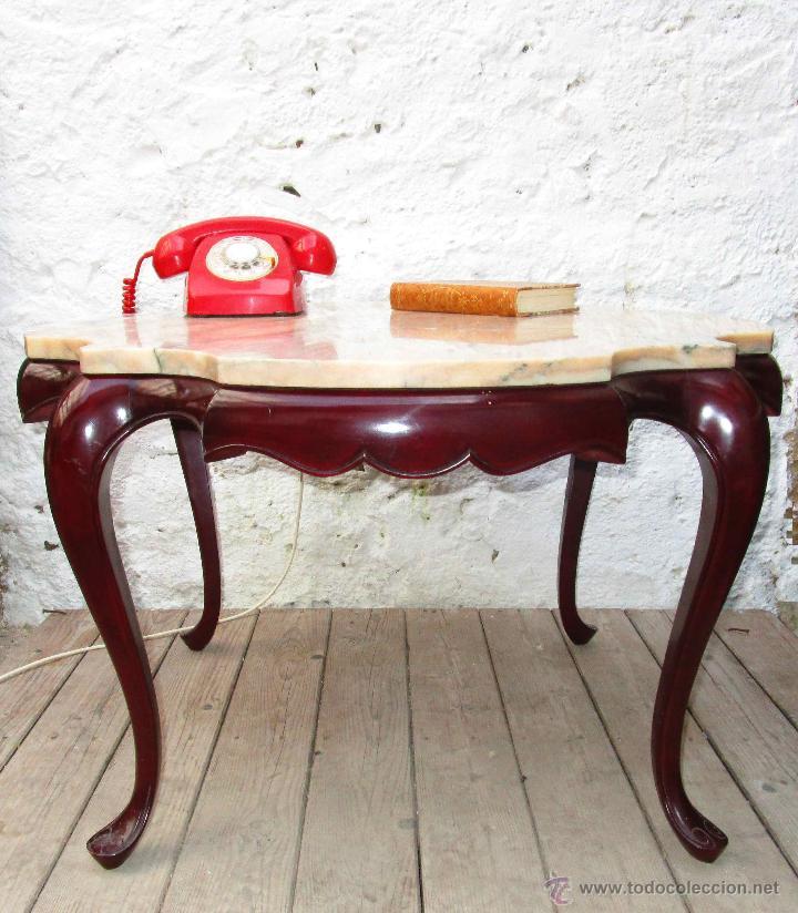 Gran mesa auxiliar ideal sofa mesita marmol y m comprar - Mesita auxiliar sofa ...