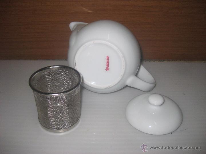 Antigüedades: Tetera cerámica blanca. - Foto 2 - 53477071