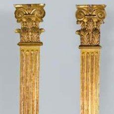 Antigüedades: PAREJA DE PILASTRAS SIGLO XIX. . Lote 53480593