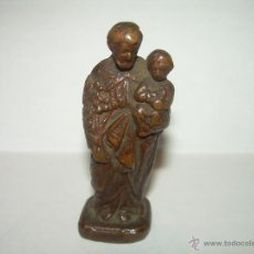 Antigüedades: ANTIGUA IMAGEN DE SANTO DE COBRE.. Lote 53485887