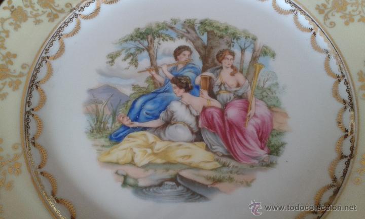 Antigüedades: ANTIGUO PLATO DE 26 CM. DE PORCELANA SANTA CLARA. - Foto 2 - 53488298