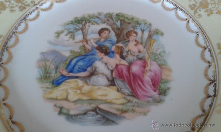 Antigüedades: ANTIGUO PLATO DE 26 CM. DE PORCELANA SANTA CLARA. - Foto 4 - 53488298