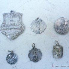 Antigüedades: LOTE DE 6 MEDALLAS DE ALUMINIO ANTIGUAS. Lote 53489042
