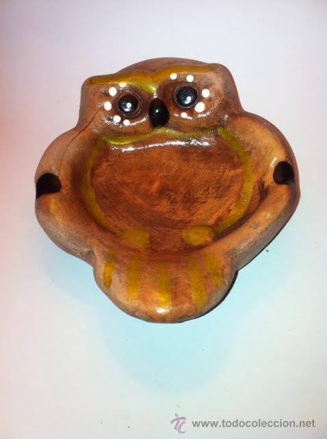 Antigüedades: Cenicero forma buho años setenta buen estado - Foto 2 - 53490835