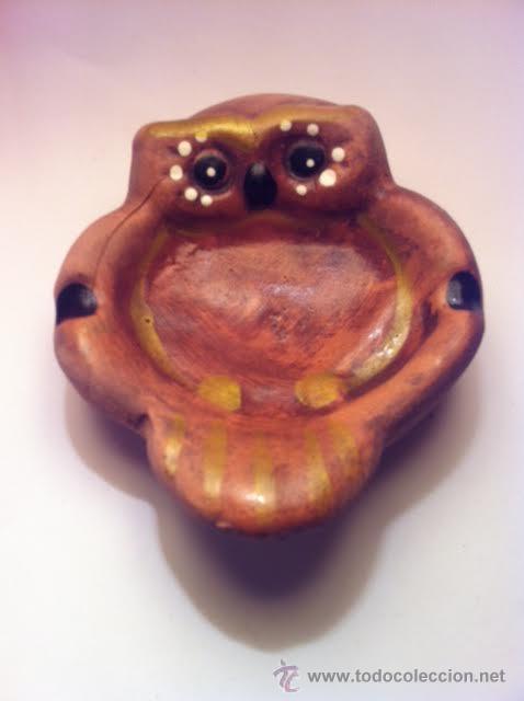 Antigüedades: Cenicero forma buho años setenta buen estado - Foto 3 - 53490835
