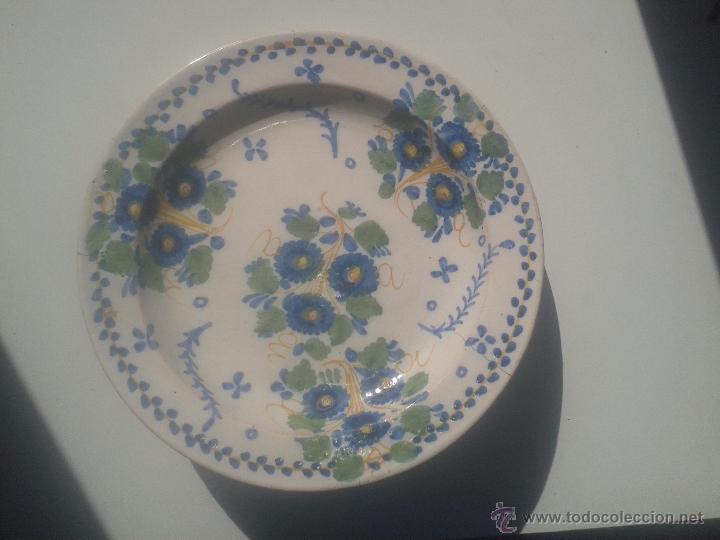 PLATO DE MANISES, S.XIX (Antigüedades - Porcelanas y Cerámicas - Manises)