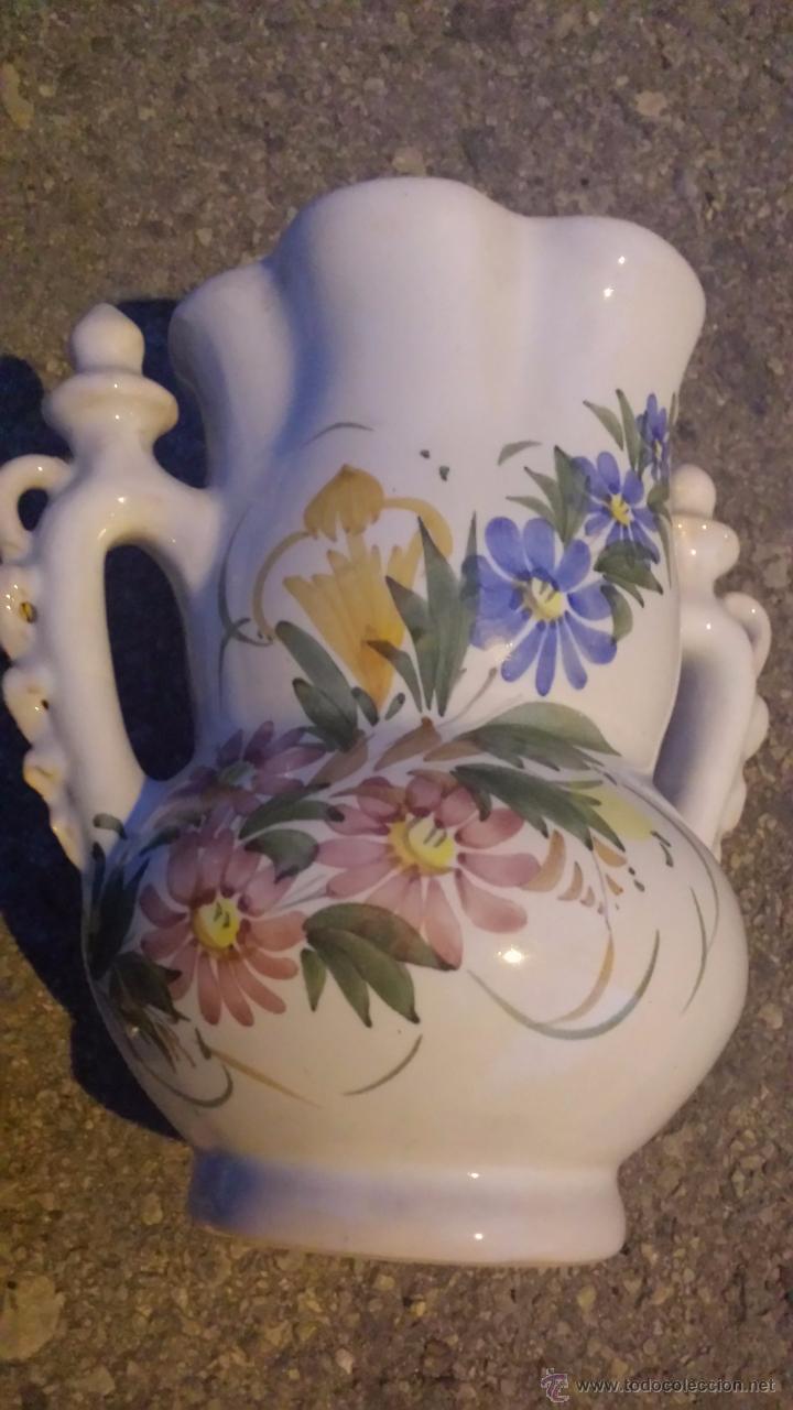Antigüedades: vieja jarra de novia pintada a mano. lario - Foto 2 - 53501120