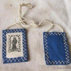 Antigüedades: ESCAPULARIO DE LA PURISIMA CONCEPCION. AÑOS 40. Lote 53507368