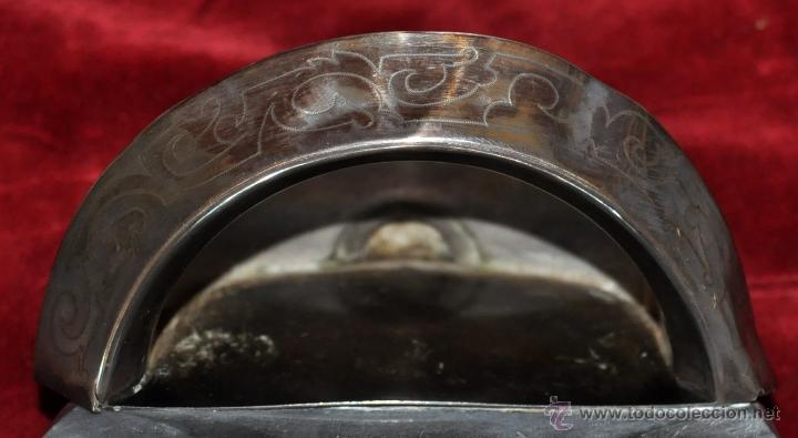 Antigüedades: PRECIOSO CRUCIFIJO MODERNISTA REALIZADO EN PLATA Y CRUZ DE MÁRMOL. CIRCA 1910 - Foto 5 - 53511435