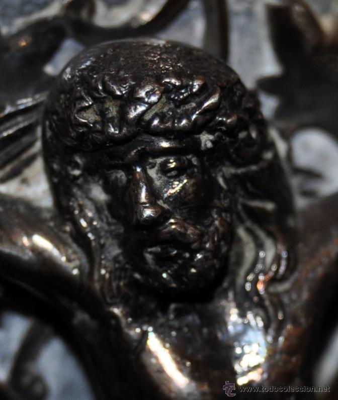 Antigüedades: PRECIOSO CRUCIFIJO MODERNISTA REALIZADO EN PLATA Y CRUZ DE MÁRMOL. CIRCA 1910 - Foto 7 - 53511435