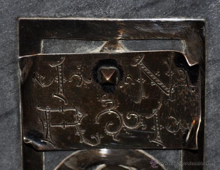 Antigüedades: PRECIOSO CRUCIFIJO MODERNISTA REALIZADO EN PLATA Y CRUZ DE MÁRMOL. CIRCA 1910 - Foto 8 - 53511435