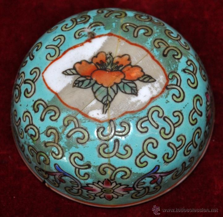 Antigüedades: PEQUEÑO TIBOR EN CERÁMICA DE MANUFACTURA CHINA. CIRCA 1950 - Foto 2 - 287702343