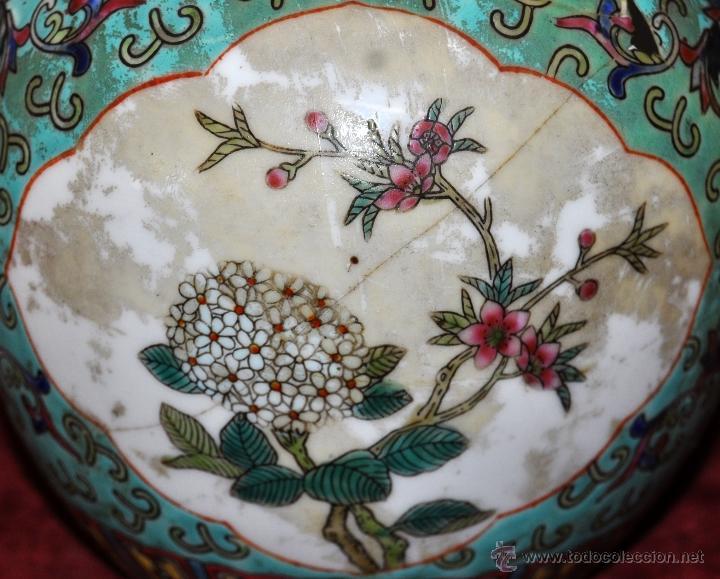 Antigüedades: PEQUEÑO TIBOR EN CERÁMICA DE MANUFACTURA CHINA. CIRCA 1950 - Foto 6 - 287702343