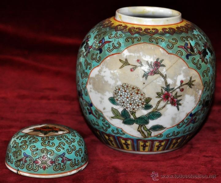 Antigüedades: PEQUEÑO TIBOR EN CERÁMICA DE MANUFACTURA CHINA. CIRCA 1950 - Foto 9 - 287702343