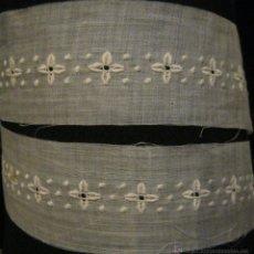 Antiquitäten - ANTIGUA BANDA DE ORGANZA BORDADA PPIO.S.XX - 53517490