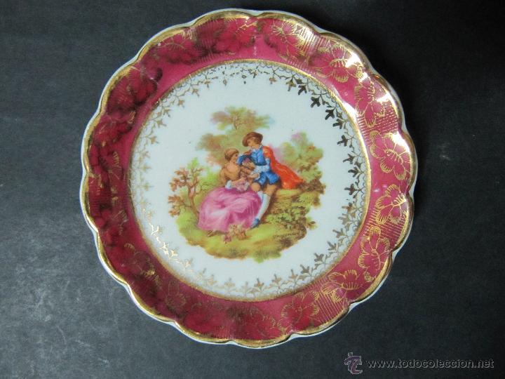 Precioso plato decorativo de porcelana fina co comprar for Platos porcelana