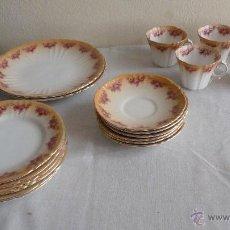 Antigüedades: JUEGO CAFÉ PORCELANA ROYAL ALBERT CROW CHINA, ENGLAND.PRECIOSA. Lote 53528100