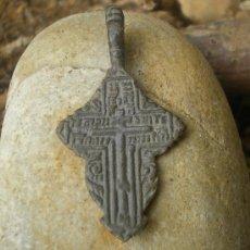 Antigüedades: CRUZ ORTODOXA SIGLO ( XVII - XVIII ) BRONCE . Lote 53530456
