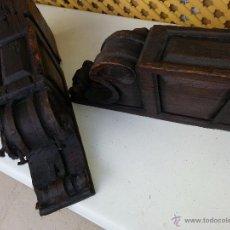 Antigüedades: MENSULAS ANTIGUAS TALLADAS SEVILLA. Lote 54392361