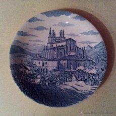 Antigüedades: PLATO EN CERÁMICA CON LA BASÍLICA DE BEGONA DE BILBAO. Lote 53534122