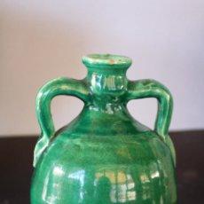 Antigüedades: BOTIJA PEQUEÑA VERDE DE LUCENA (CÓRDOBA). Lote 53534689