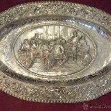 Antigüedades: BANDEJA DE PLATA DE LEY. Lote 53534794